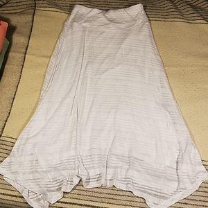 New Christopher & Banks CJ White Lined Skirt Sz S